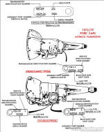 ford pinto engine diagram 1973-1979 ford car transmission application chart ... #8