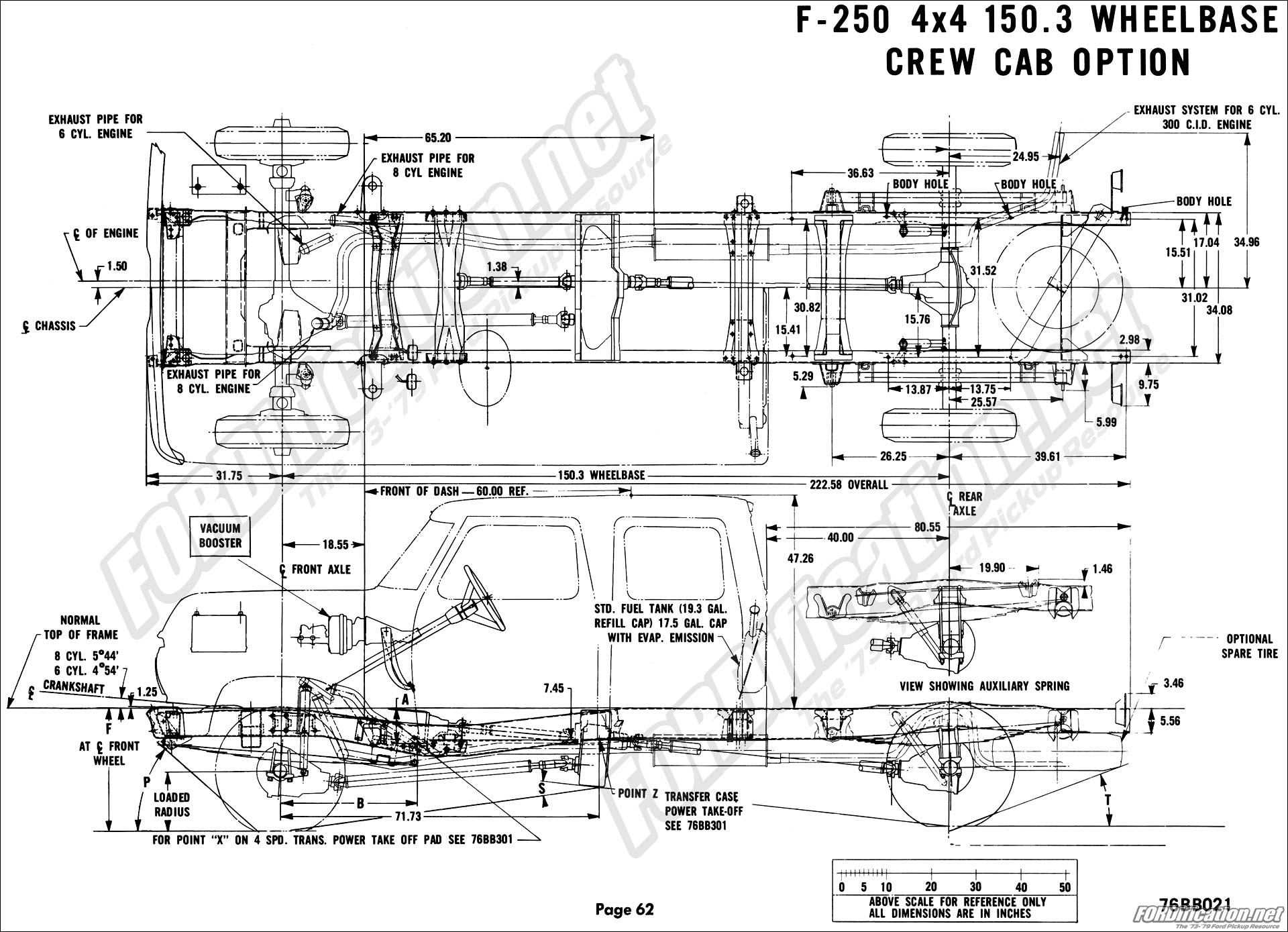 Chassis F Wd Crew on 1973 ford f 250 wiring diagram