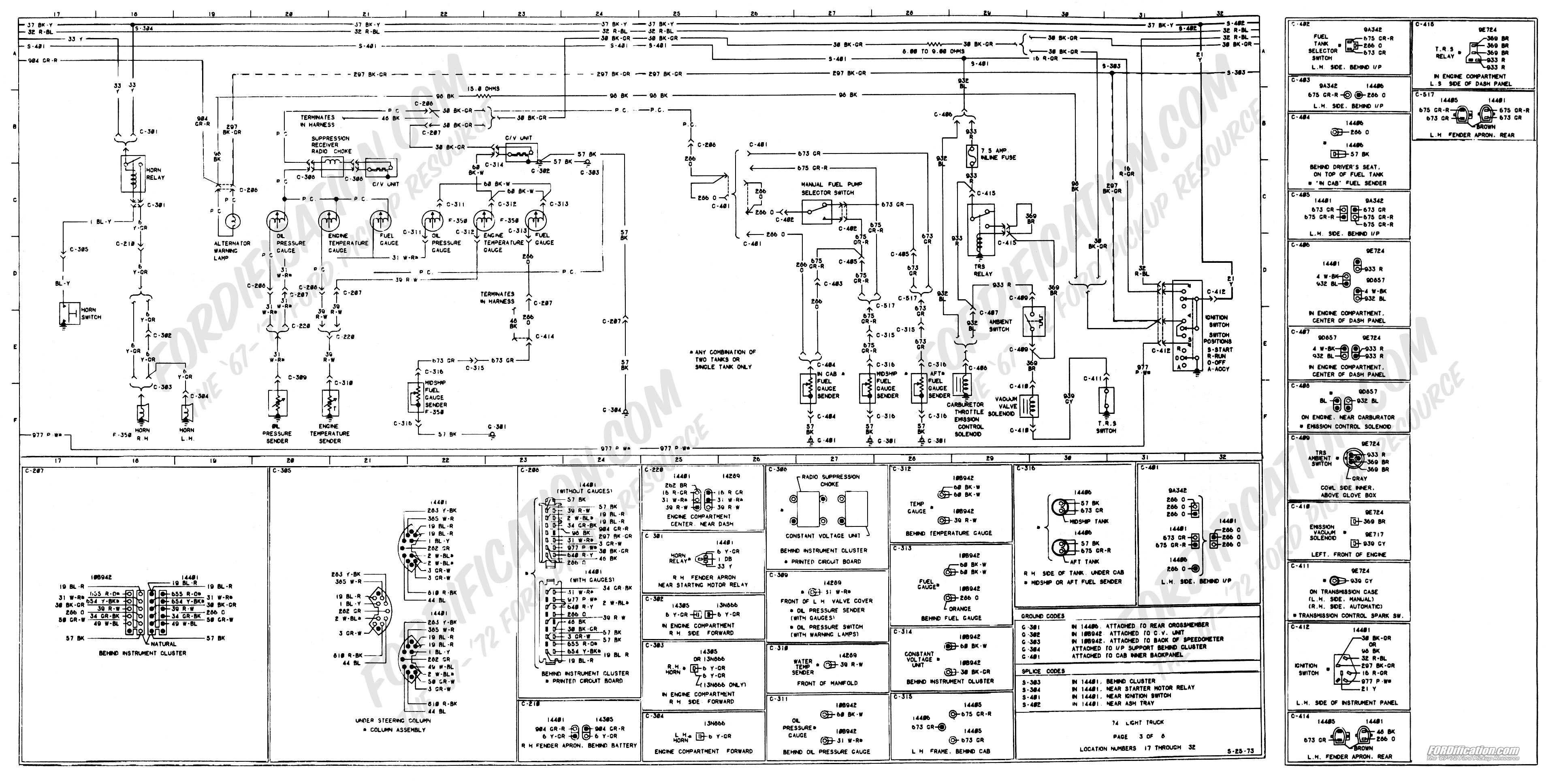 wiring_74master_3of8 74 f100 help with wiring diagram ford truck enthusiasts forums 2002 F250 Wiring Diagram at gsmx.co