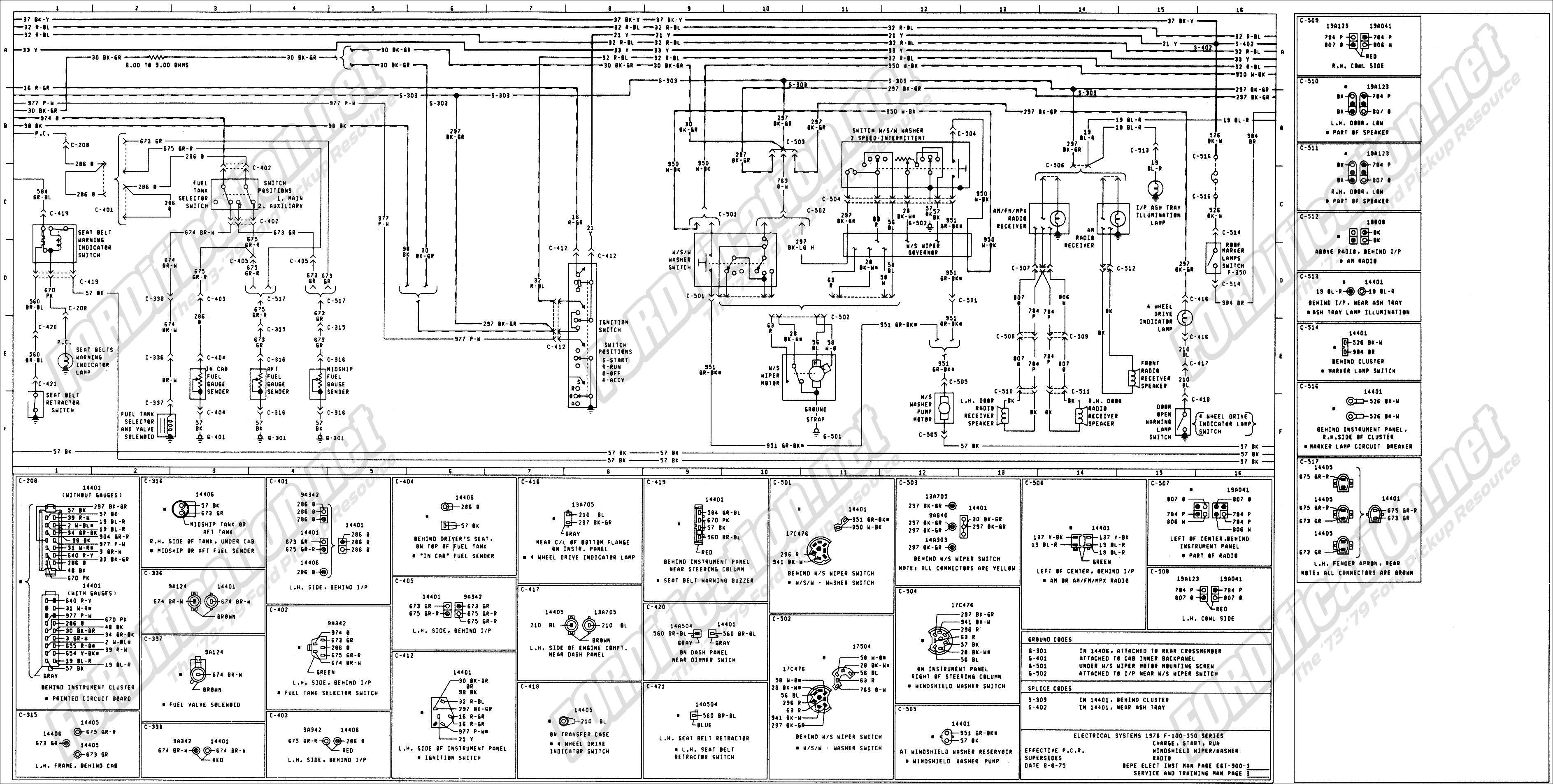 2012 ford f250 upfitter wiring diagram 1973 1979 ford truck wiring diagrams amp schematics 1993 ford f250 radio wiring diagram #9