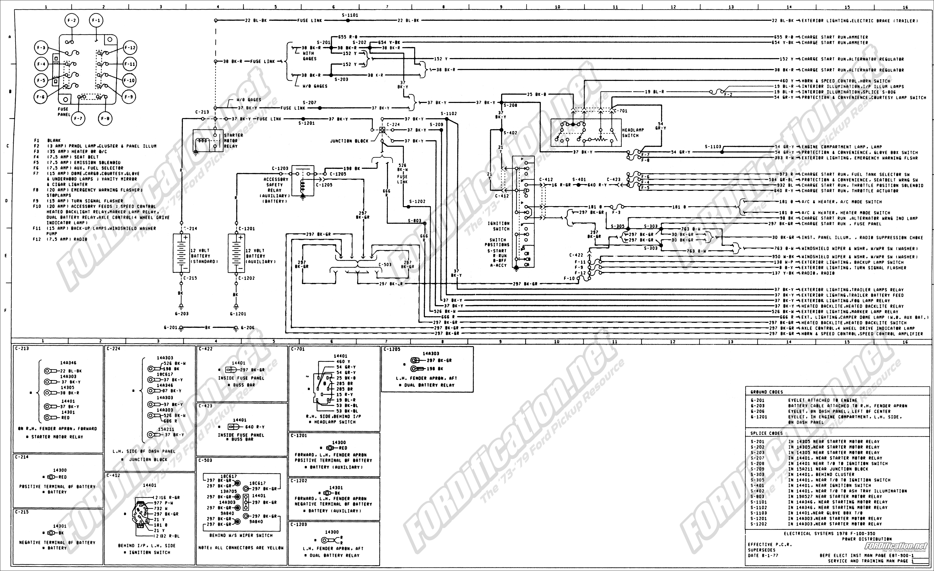 1976 Ford F350 Wiring Diagram Great Design Of Jeep Cj7 Alternator Fuse Block Truck Enthusiasts Forums 2004 1978 F250