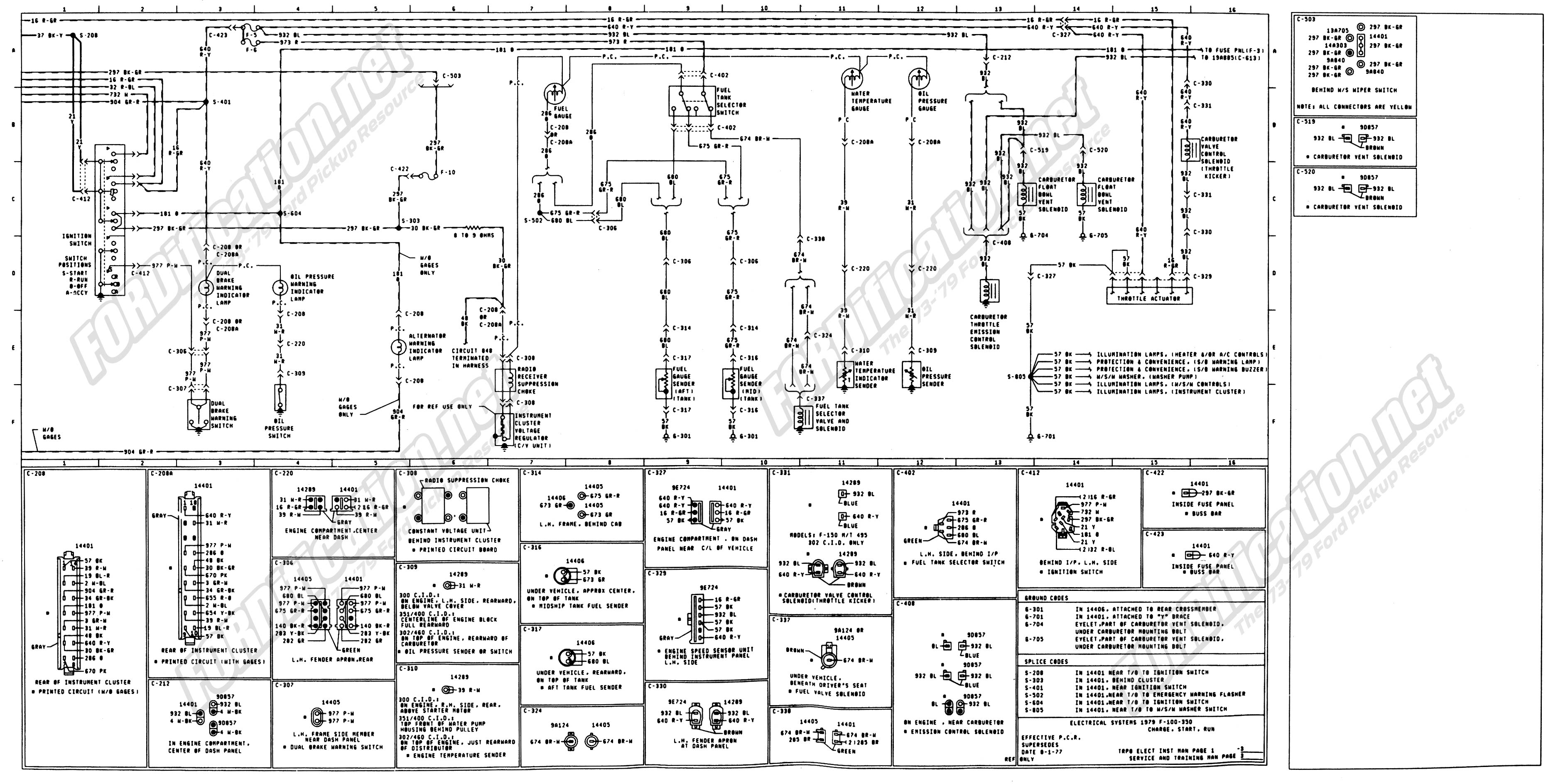 wiring_79master_3of9 wiring diagram schamatic help ford truck enthusiasts forums 2001 ford f150 trailer wiring diagram at alyssarenee.co