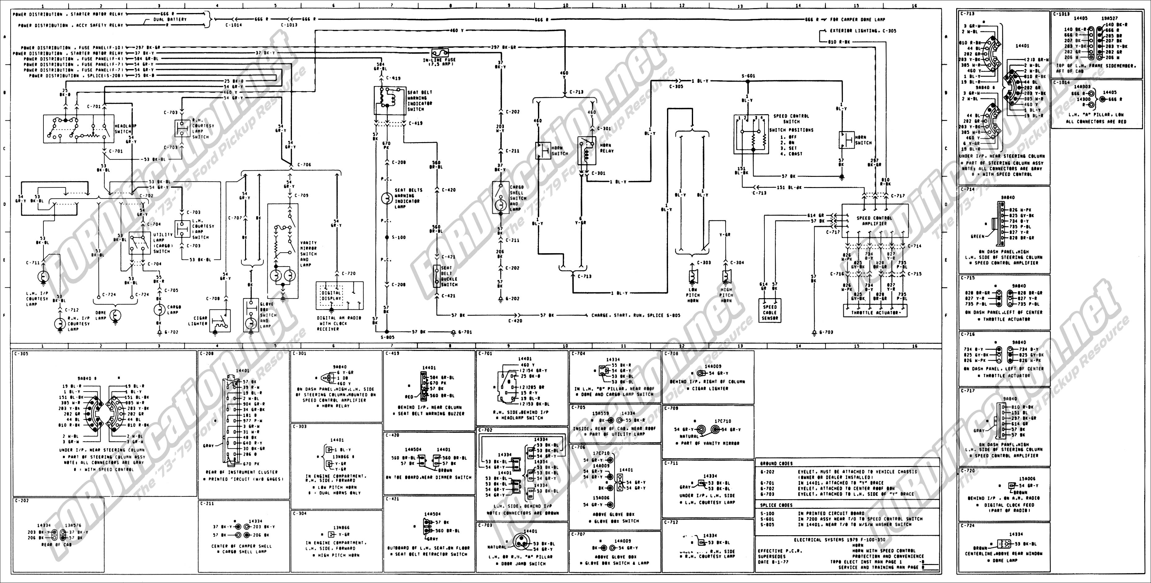 1979 f350 wiring diagram 1979 nova wiring diagram 1973-1979 ford truck wiring diagrams & schematics ... #8